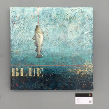 Bla bla blue oceans | 60 x 60 cm | Mixed media | 2015-2016